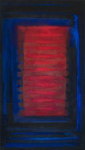 Rot von Innen - 2013 - Mischtechnik auf Leinwand - 140cm x 82 cm