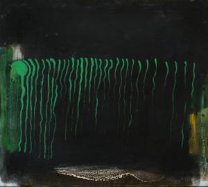 Grüne Keime - 2013 - Mischtechnik auf Leinwand - 80 cm x 90 cm
