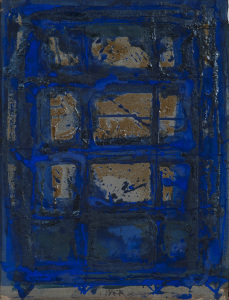 Kleines Blaues - 2005 - Mischtechnik auf Leinwand - 53 cm x 40 cm