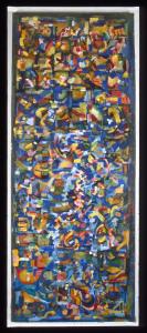 hohes schmales - 1993 - Mischtechnik auf Leinwand - 210 cm x 75 cm - Privatbesitz