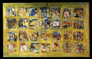 Gelbes Monochrom - 1992 - Mischtechnik auf Leinwand - 130 cm x 210 cm