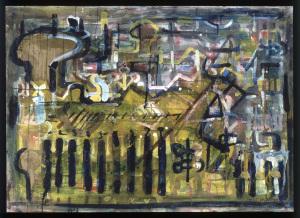 Informel - 1997 - Mischtechnik auf Leinwand  - 70 cm x 110 cm - Privatbesitz