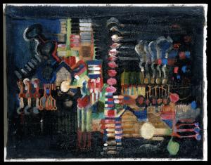 Konstruktive Malerei - 1986 - Mischtechnik auf Leinwand - 70 cm x 110 cm