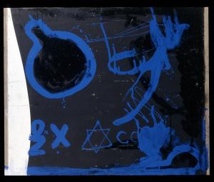 Schaltung Kristalnacht 1998 - Mischtechnik auf Leinwand - 101 x 121 cm