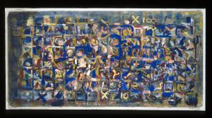 Städtebild II - 1997 - Mischtechnik auf Leinwand - 89 x 185 cm