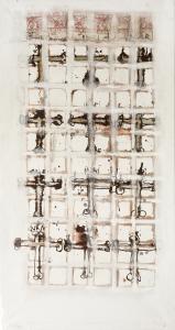Papstwahl I - 2005 - alle Medien auf Leinwand - 170 cm x 91 cm