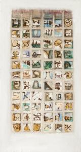 Papstwahl III - 2005 - alle Medien auf Leinwand - 170 cm x 91 cm