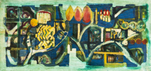 Seelenwanderung - 1996 - Mixed Media auf Leinwand - 186 cm x 88 cm