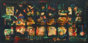Dunkles Format - 2002 - Alle Medien auf Leinwand - 200 cm x 100 cm