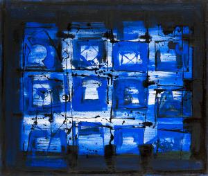 Blaues Hallenbild - 2013 - Mixed Media auf Leinwand - 142 cm x 120 cm