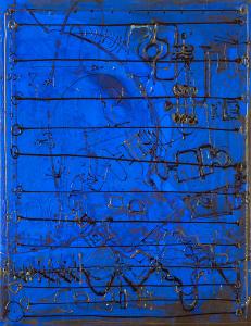Rhapsodie in Blue - 2003 - Alle Medien auf Leinwand - 91 cm x 70 cm