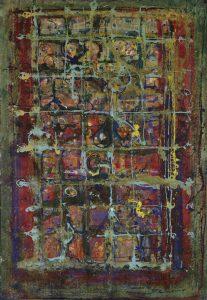 Farbklang Melancholisch- 1996 - Mischtechnik auf Leinwand - 120cm x 80 cm