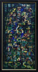 Sakrale Themen II- 1996 - Mischtechnik auf Leinwand - gerahmt - 180cm x 80