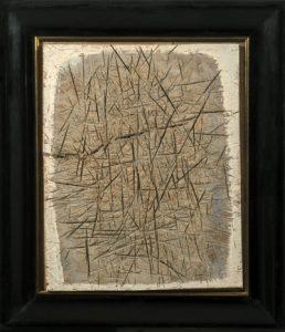 Reliefbild II - 1985 - Einschnitte auf Hartfaserplatte - 74 cm x 62 cm