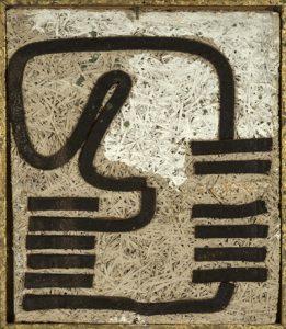 Reliefbild I - 1985 - Schaumstoff auf Heraklith - 53 cm x 43 cm